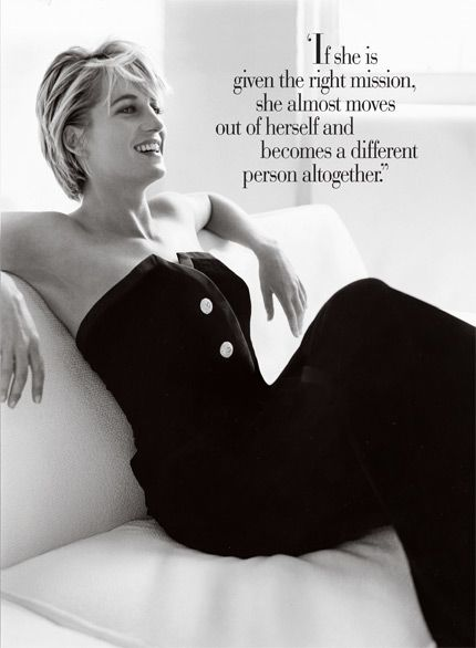 princess di. an amazing human being. Please let someone think this quote of me someday...
