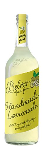 Belvoir Fruit Farms Handmade Lemonade Pressé 75CL | Our original homemade lemonade | Our Lemonade, made from freshly squeezed lemons, sugar and lightly bubbling Belvoir spring water, has always been one of our most popular drinks. Take a sip, close your eyes, and imagine you're relaxing in a flower-filled meadow! Serve chilled over ice for a refreshing and natural soft drink.