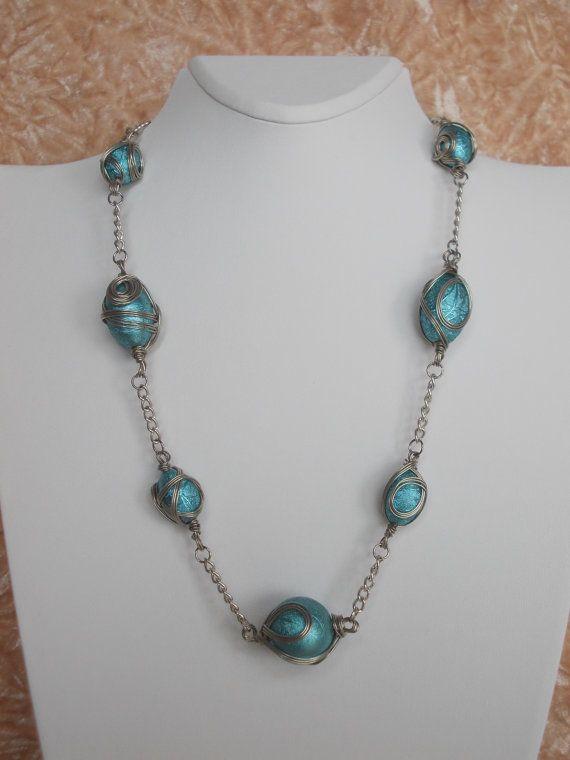 Бирюзовое ожерелье, Бирюзовое NecklaceAccessories бесплатно по Monpasier