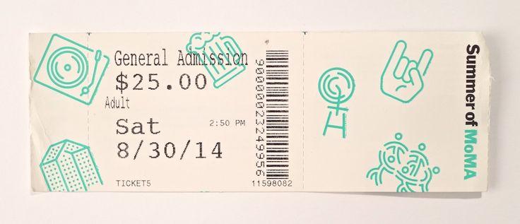 MOMA Summer 2014 Admission ticket.
