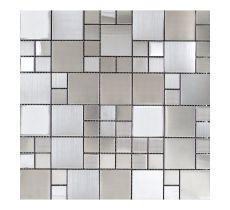 FTYG015-3 Brushed St/Steel Combo 2 Interlocking Mosaic