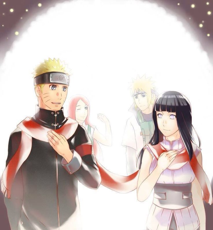Naruto and Hinata. Kushina and Minato
