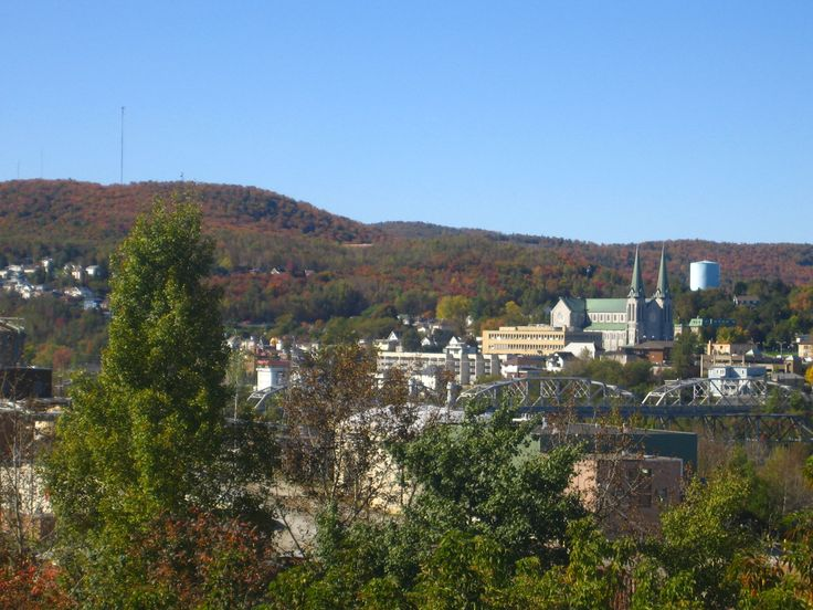 The cathedral in downtown Edmundston is particularly gorgeous against the autumn-hued hills, as seen in September 2011.