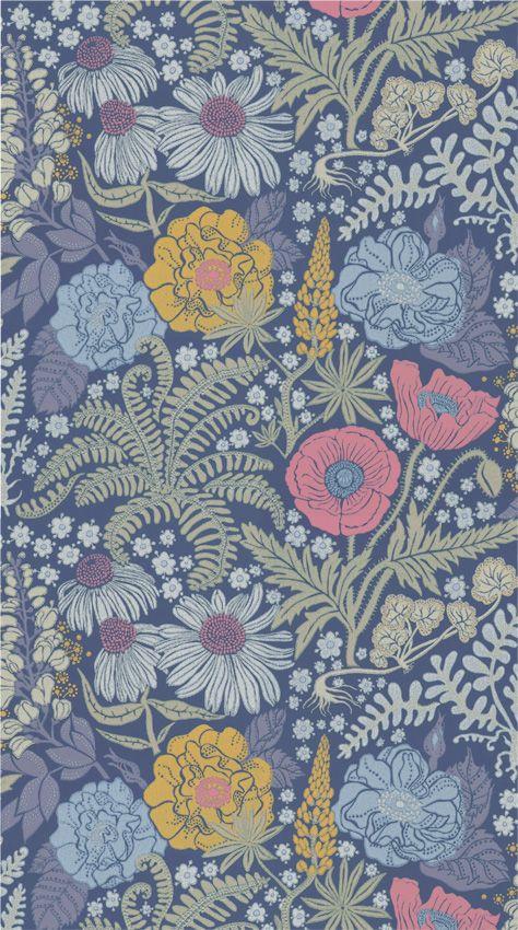 Tapet 86964: Lisa Mörkblå från Sandberg - Tapetorama
