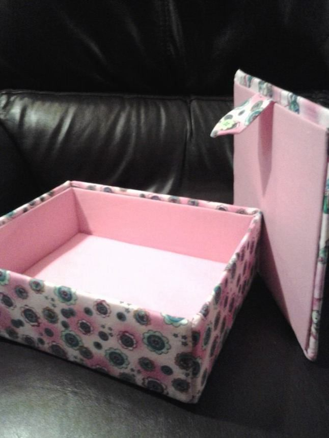 lids and box fabric covered box