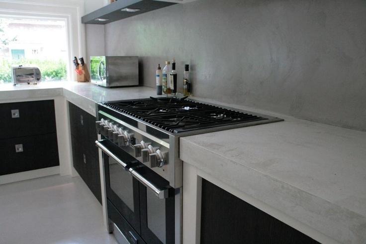 mooi dik betonnen aanrechtblad home keuken pinterest. Black Bedroom Furniture Sets. Home Design Ideas