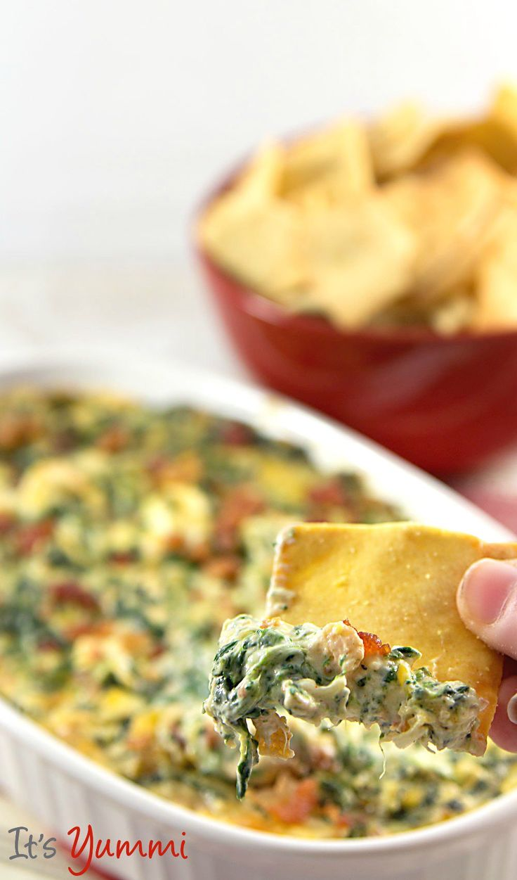 This is the best hot spinach dip recipe I've ever made! Probably because it's lower in fat and low carb, too!