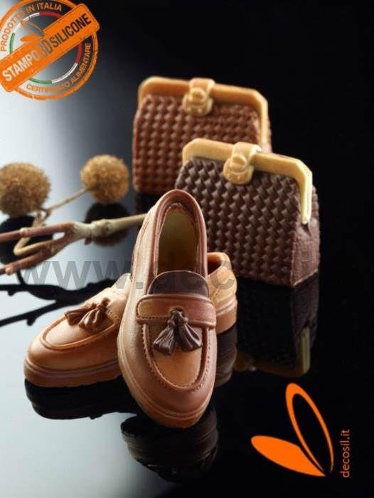 Moule en silicone pour le chocolat en forme de Chaussure Mocassino