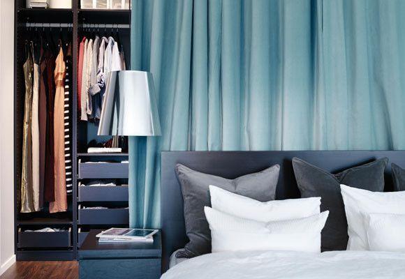 El vestidor detrás de la cama #Dormitorio