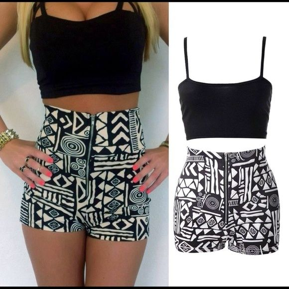 ISO outfit. Help me find some high waisted shorts and some crop tops!!! Comment some people who are selling or comment some brands for me to look up :)  Charlotte Russe Shorts