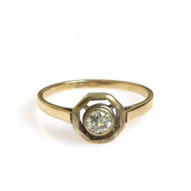 Pierścionek, Nr. 586 złoto, diament - Desa Biżuteria
