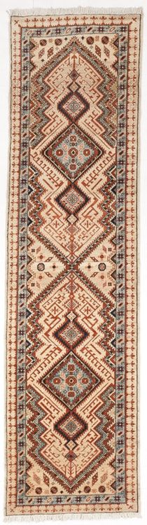 "Hand knotted Pakistan runner rug. 2'8""x 9'7"" —"