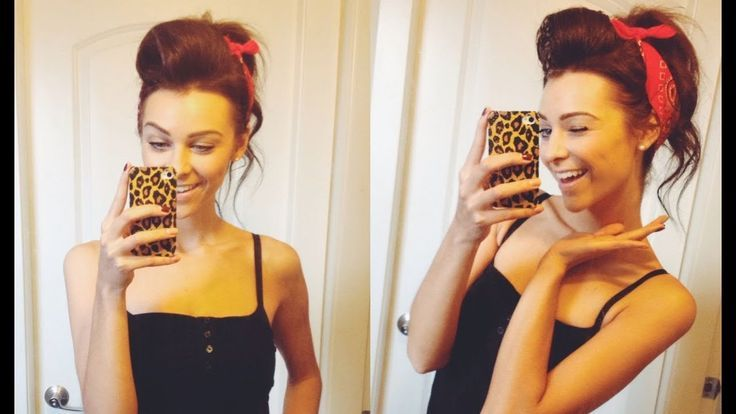 50s Impressed Classic Pinup Updo w/ Bandana All Issues Hair
