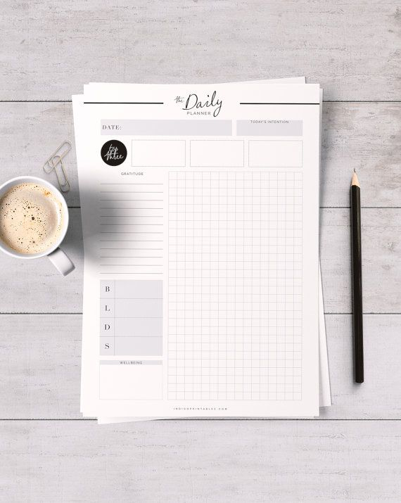 Daily Planner Printable Creative Planner par IndigoPrintables