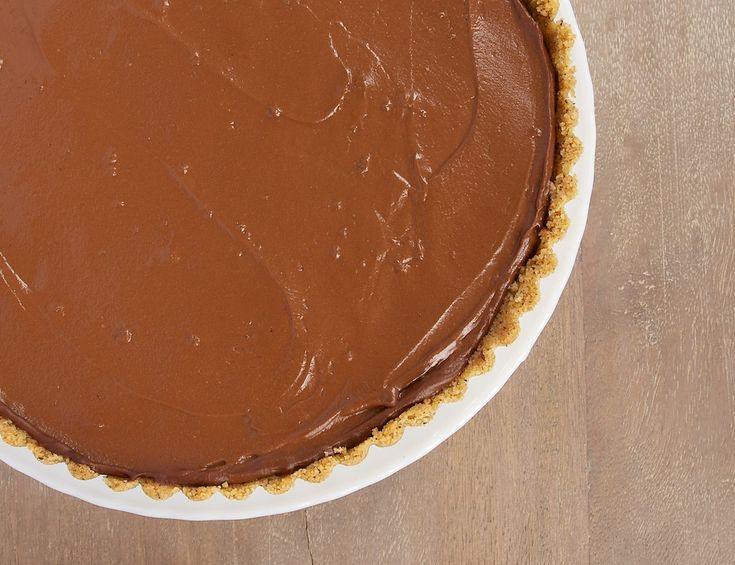 Chocolate Pudding Pie with Peanut Butter Filling is a cool, creamy dessert that's so simple to make.