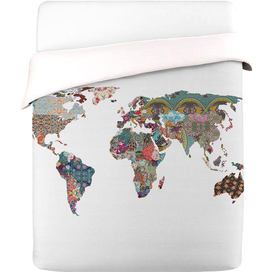 World map duvet cover For my future mansion Pinterest Duvet Duvet Cove