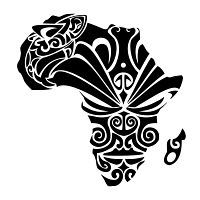 Beautiful black tribal print on the African continent