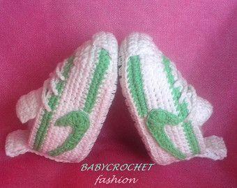 Crochet Baby Shoes Pink Baby Shoes Pink Baby by BABYCROCHETfashion