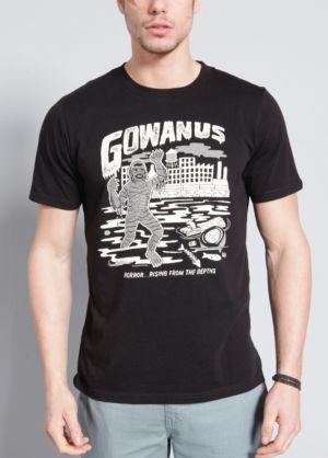 Inspired by our favorite black and white horror films, this graphic reminds us of the slimy creatures that probably dwell in the Gowanus Canal. Printed on our super soft, 100% cotton tee.#brooklynindustries #vintage #horrorflicks #monsters #moviegeek #nerd #nerdchic #geek #geekchic