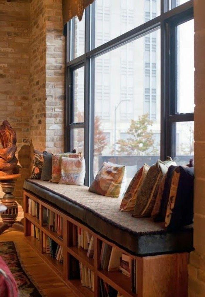 43 Ideen für behagliche Sitzecke auf der Fensterbank