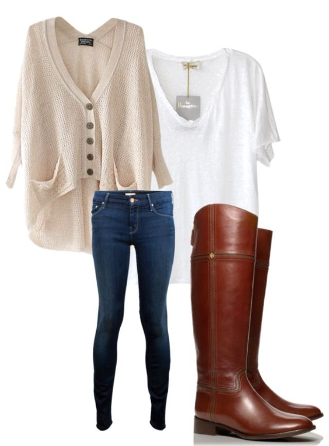 cozy but cute outfit for fall, such simple pieces, but it looks very nice