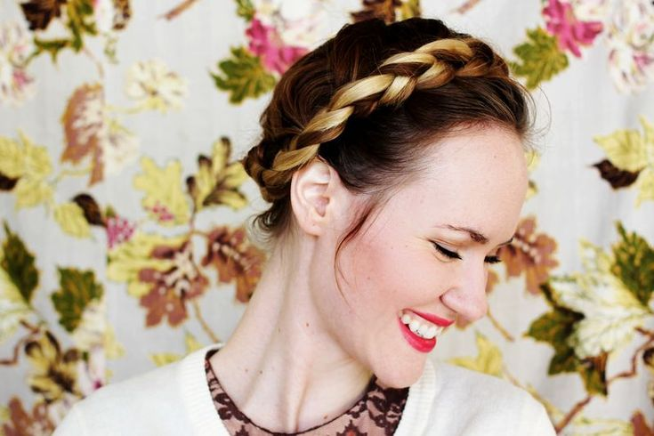 How-To: Braided Crown  via A Beautiful Mess Blog