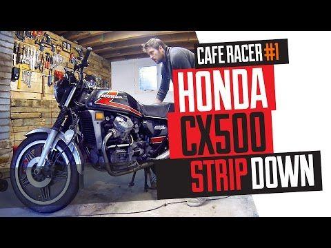 Honda CX500 Cafe Racer Build 1 -  Strip down - YouTube