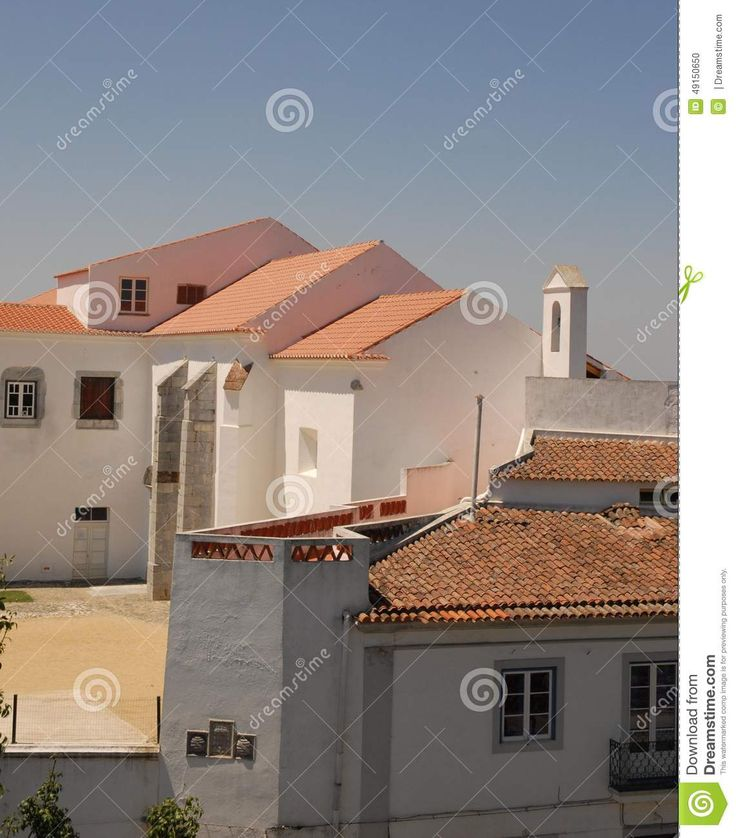 Beja in Portugal. Group of typical houses with white walls. Despite the simplicity of housing portrayed and their forms, their composition, with a few games of shadows, creates a very beautiful and interesting.