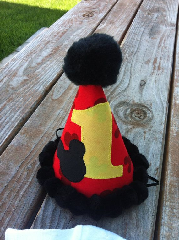 Mickey Mouse birthday, Mickey Mouse birthday hat, Mickey Mouse photo prop on Etsy, $12.00