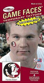 Florida State FSU Seminoles Game Faces Waterless Temporary Tattoos - Set of 4 $3.25