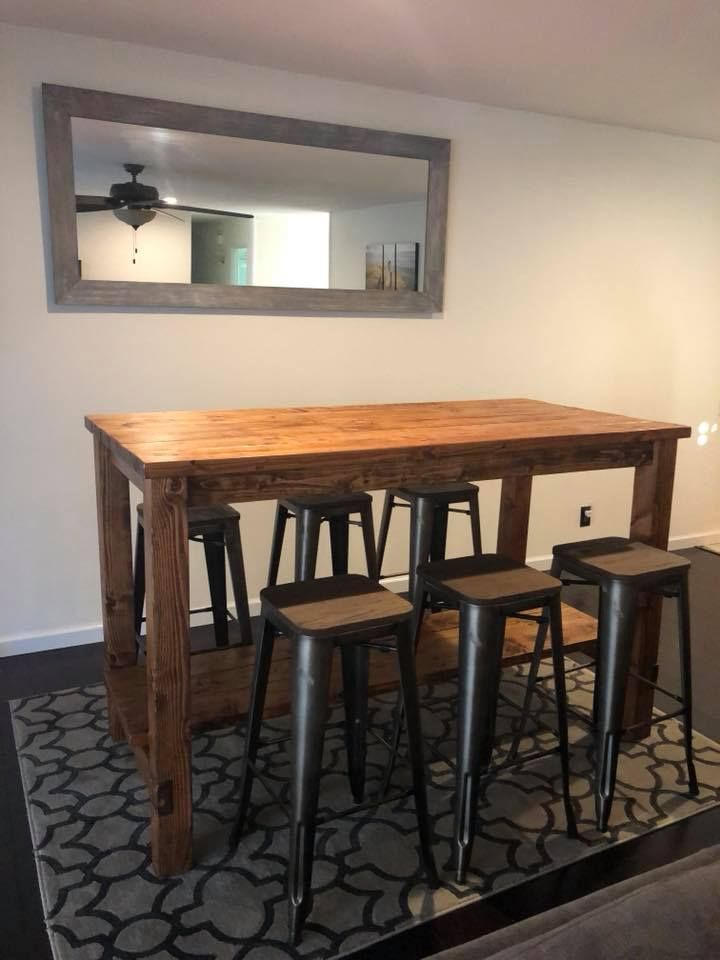 Ana White Farmhouse Style Bar Table San Diego Diy Projects Kitchen Bar Table Bar Table Bar Height Kitchen Table