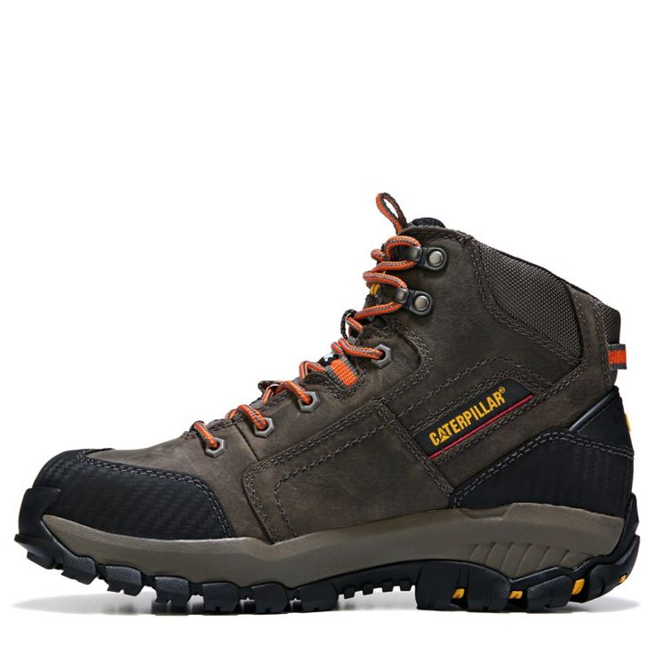 Caterpillar Men's Navigator Mid Medium/Wide Waterproof Steel Toe Boots (Dark Gull Grey) - 8.5 M