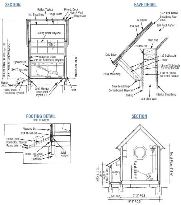 Garden Shed Plans Details Ridge Rafters #shed_building