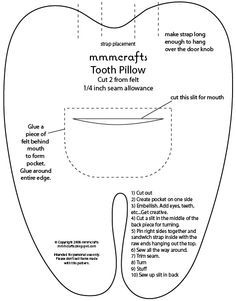PARA EL PEQUEÑO RATON -------- Looks like I'm going to need this now-tooth fairy pillow pattern                                                                                                                                                                                 Más