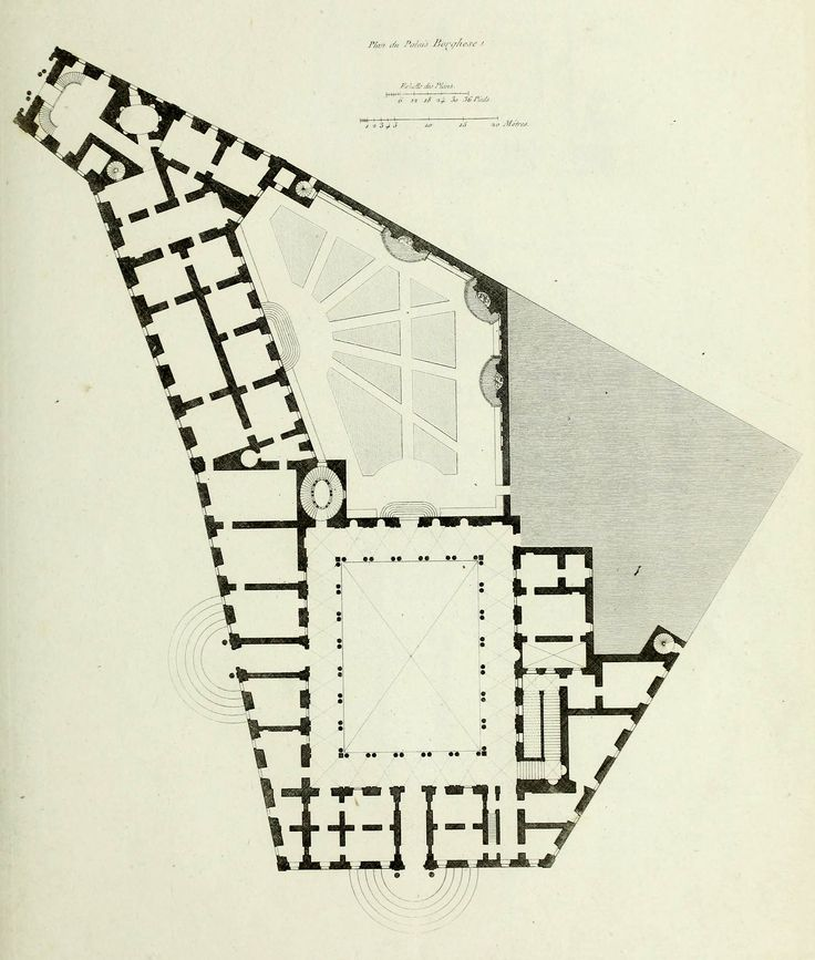Floor Plan Of The Palazzo Borghese Rome Collecton Point