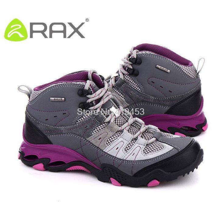 RAX женщины походные ботинки дышащие замши походные ботинки скольжения моды уличной обуви дышащие высокого верха обуви B938