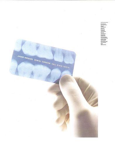 Carte visite d'un chirurgien dentiste