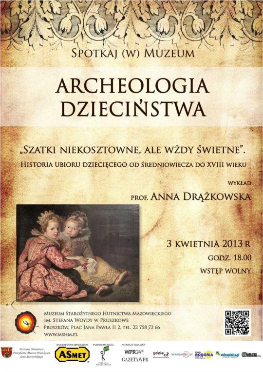 Archeologia dzieciństwa - Historia ubioru dziecięcego - Pod patronatem - Pruszków - Informator Kulturalny Gdzieco.pl