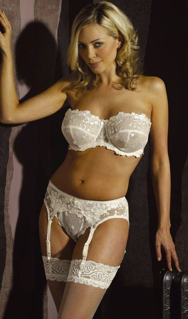 Amusing piece elegant white wedding lingerie with you