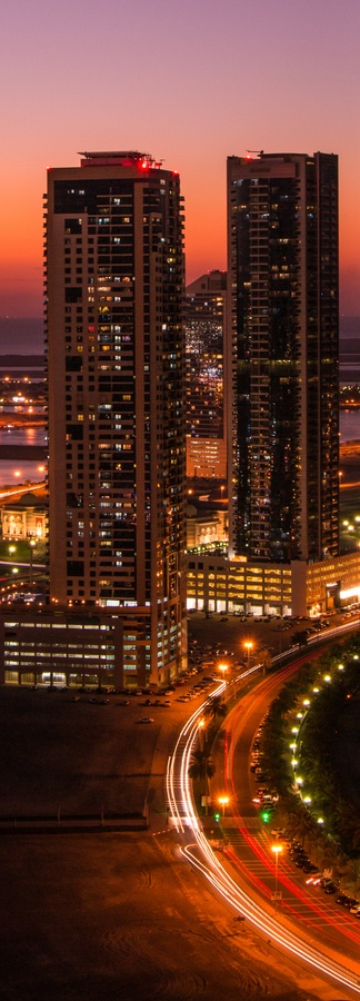 "500px / Photo ""City Lights"" by Issa Khashan,At Sharjah-UAE"