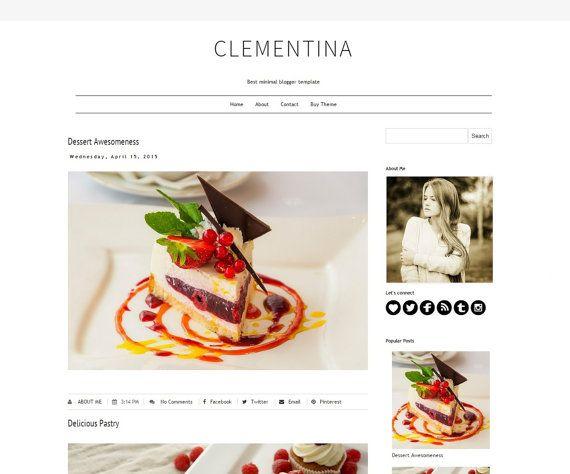 Modern Blogger Template Design  Premade Blog by DigitalBeautiful