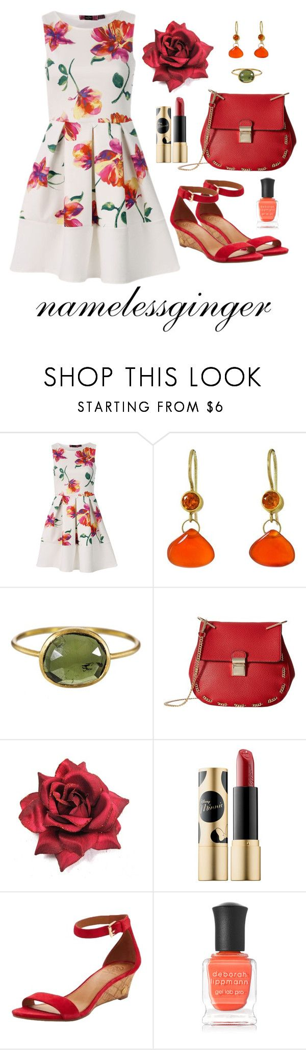 """untitled #580"" by namelessginger ❤ liked on Polyvore featuring Mallary Marks, Solow, Gabriella Rocha, Sephora Collection, Tory Burch and Deborah Lippmann"