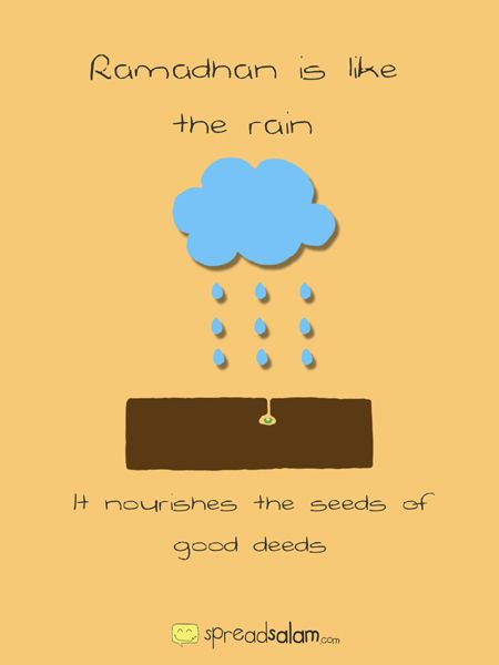 Ramadan is the Rain. a nice simple illustration and explanation for kids.