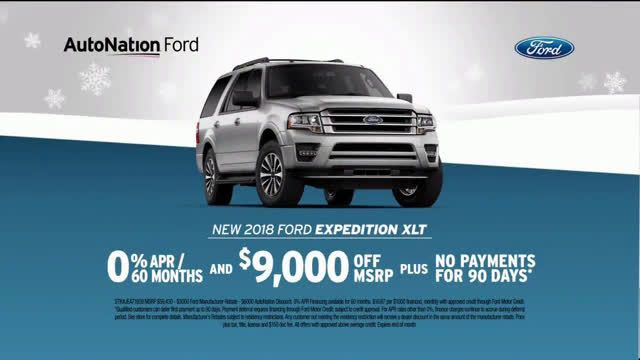 Autonation Ford Year End Savings 2018 Expedition Xlt Ad Commercial On Tv 2018 Ford Expedition Ford News Expedition