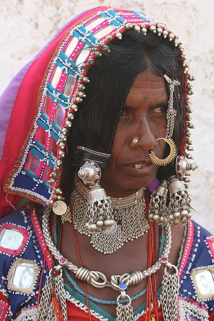 the Lambadi or Banjara tribal people at Raikal village