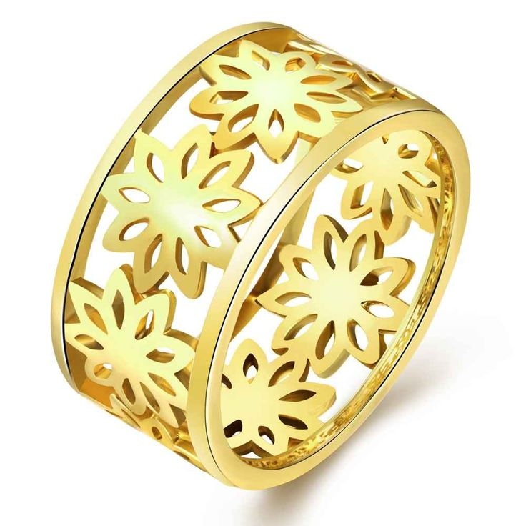 Free Shipping aliexpress acessorios para mulher ring Hollow flowers rose golden silver 3 color prices in euros jewelry SKGR315