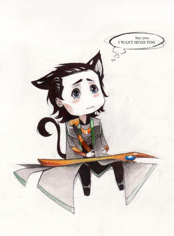 Lokitty wants your HUGS by kleineHerz.deviantart.com on @deviantART