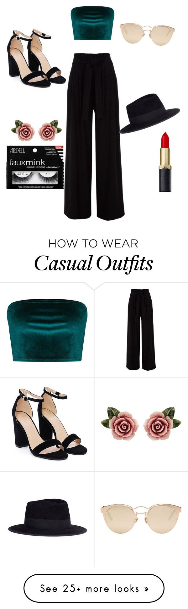 """Going out with the girls or just casual if you're a queen "" by sophia-scott-i on Polyvore featuring Nasty Gal, Christian Dior, Maison Michel and Dolce&Gabbana"