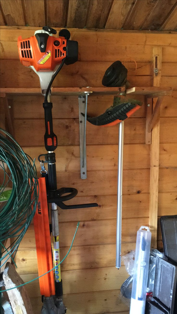 Hanging Garden Tools On Wall