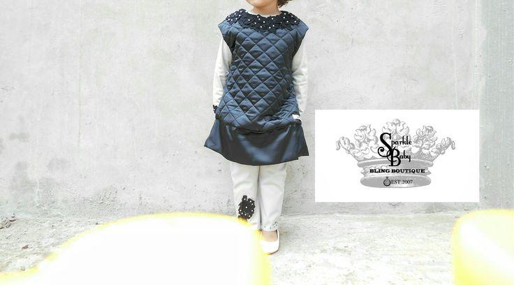 'Elegant Tailored Junior Padded Lace Dress' (Rear)